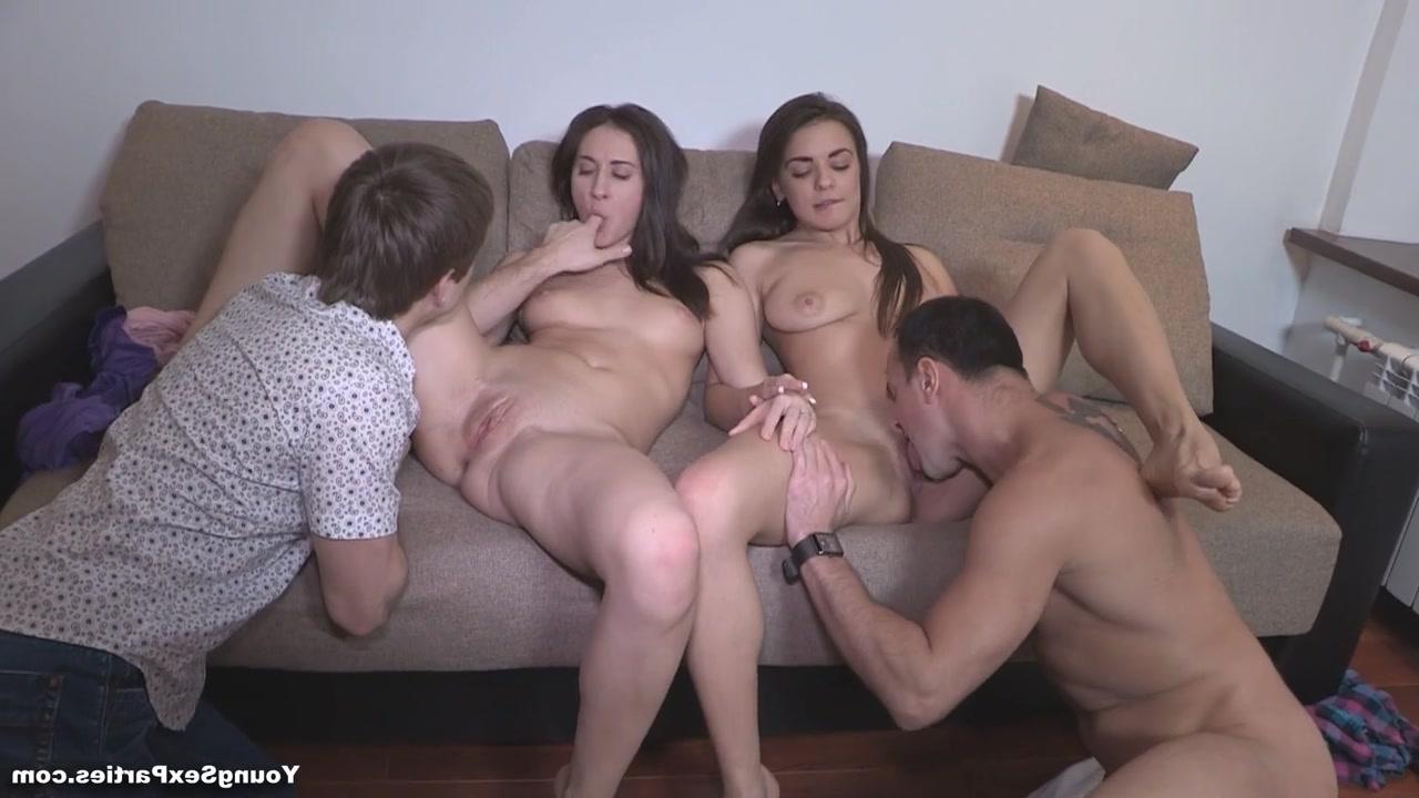 Elles sont chaudes ces jeunettes cochonnes du sexe en délire dans une orgie amateur